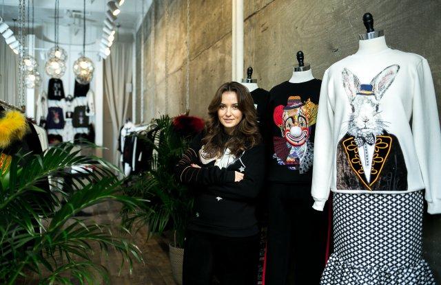Katya Dobryakova in her new store.