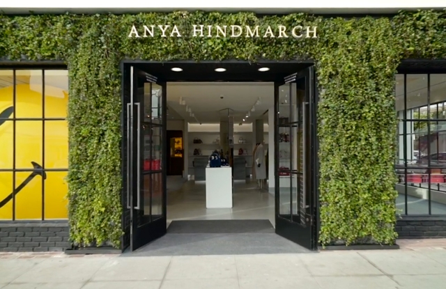 Anya Hindmarch's new Melrose Place boutique.