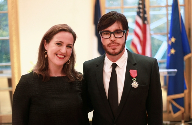Cultural Counselor of the French Embassy Bénédicte de Montlaur and François Nars.