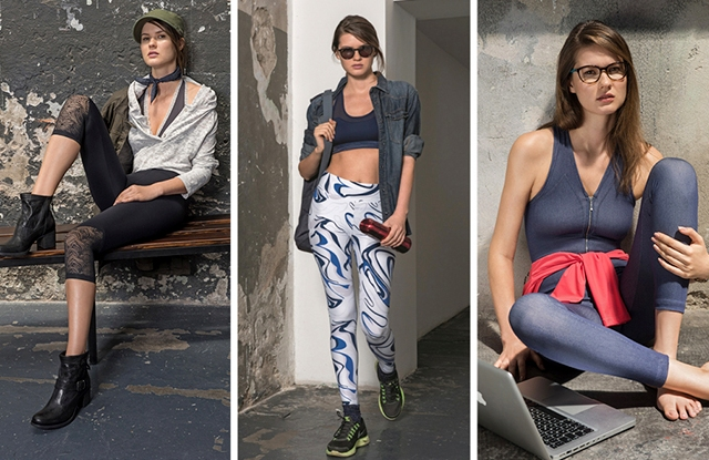 Looks from the Lycra Moves Athleisure Capsule collection.