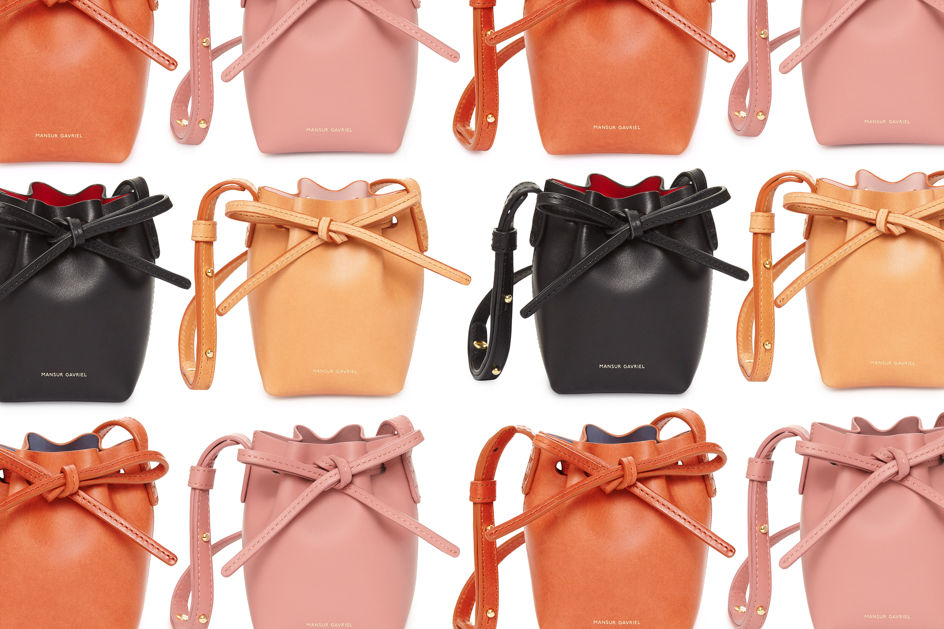 The baby bucket bag exclusive to Mansur Gavriel's forthcoming pop-up shop.