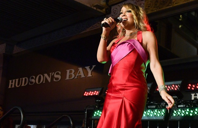 Mariah Carey at Hudson's Bay