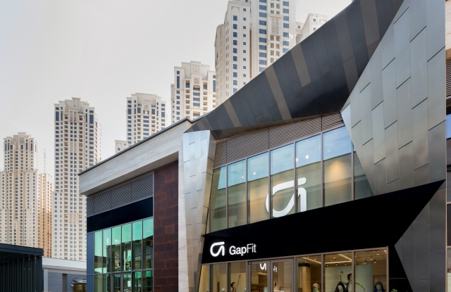 The GapFit boutique is located in The Beach complex in Dubai.