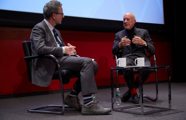 Norman Foster talks with Michael Boodro at Hearst Tower.