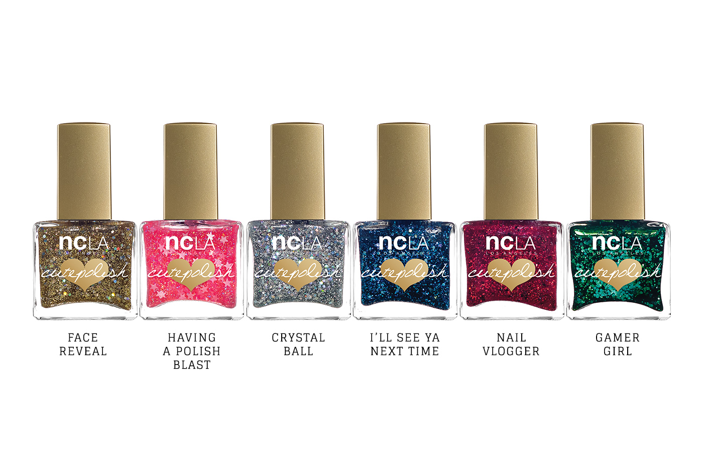 Polishes from the collaboration between NCLA and CutePolish.