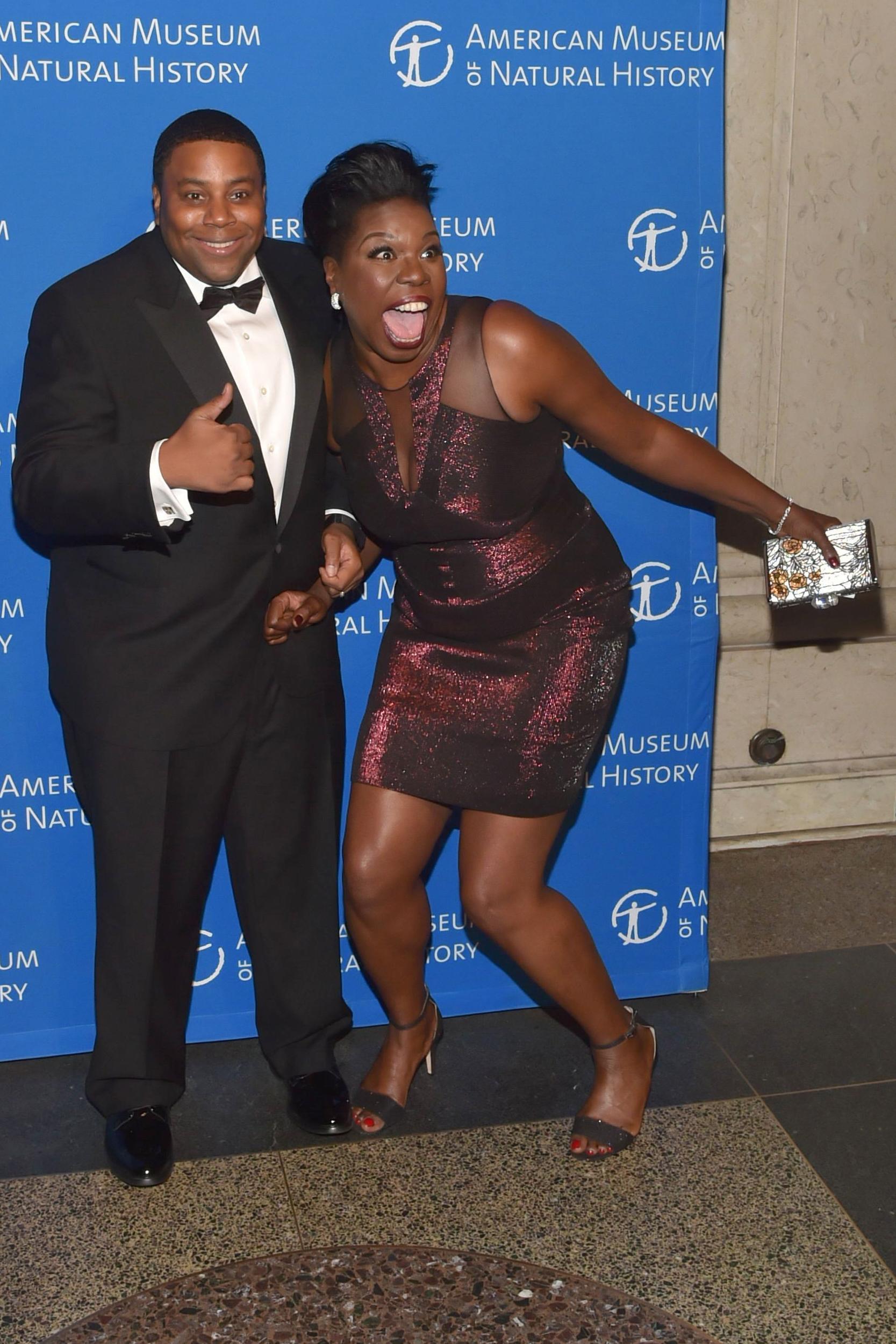 Leslie Jones and Kenan Thompson