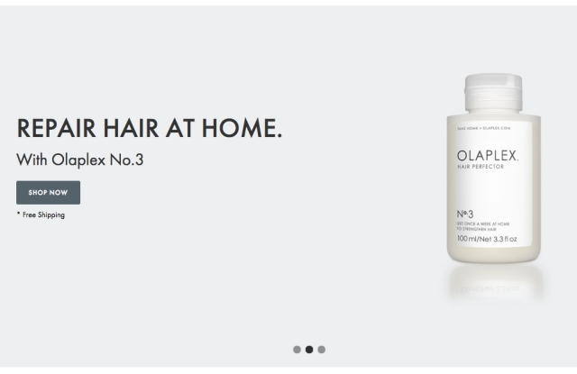 A look at the Olaplex web site.