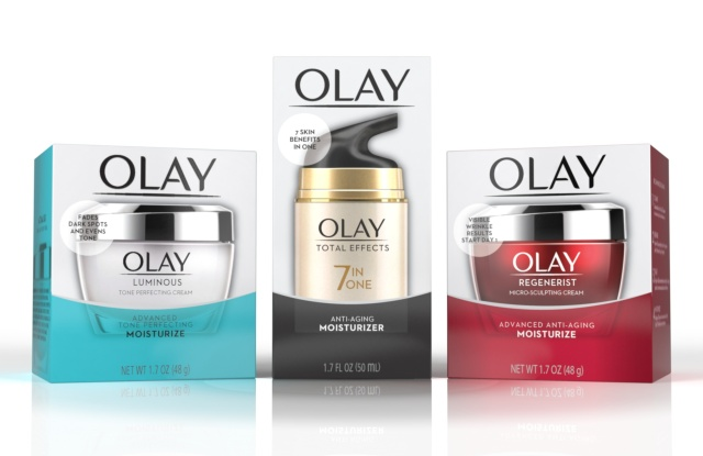 Olay's new packaging.
