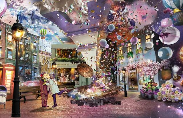 A rendering for the Sweets by Naked interactive digital experience.
