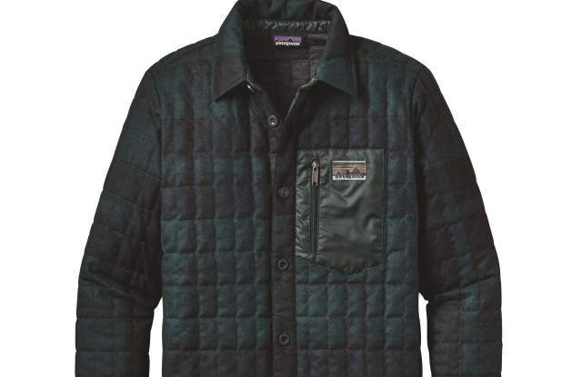 Patagonia's recycled down shirt jacket.