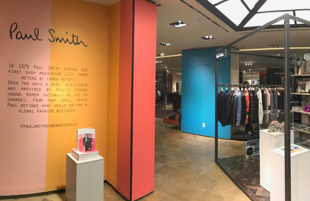 The Paul Smith installation at the Bergdorf Goodman men's store.