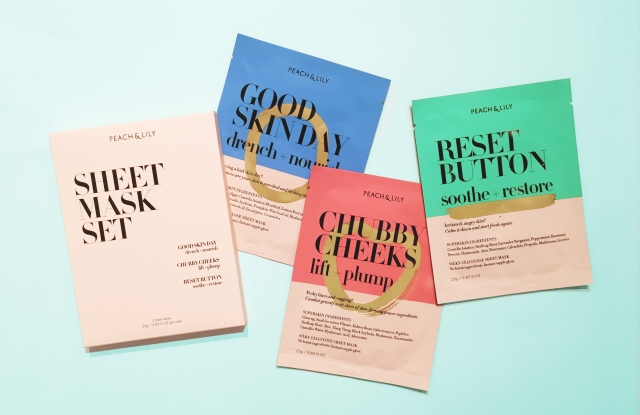 The Peach and Lily Dream Sheet Mask collection.