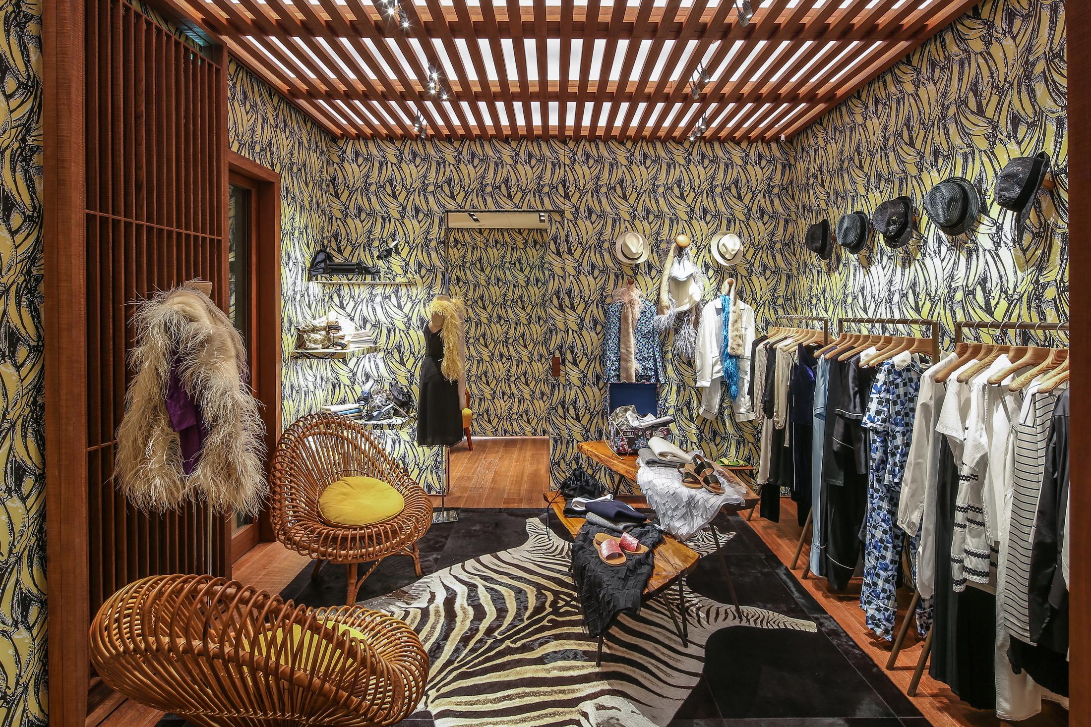 The new Prada boutique in St. Barth's.