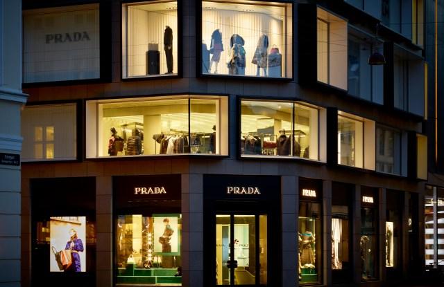 Prada's flagship in Copenhagen.