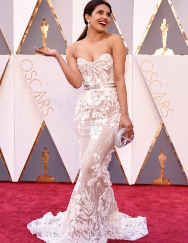 Priyanka Chopra Wearing Zuhair Murad at the 2016 Oscars