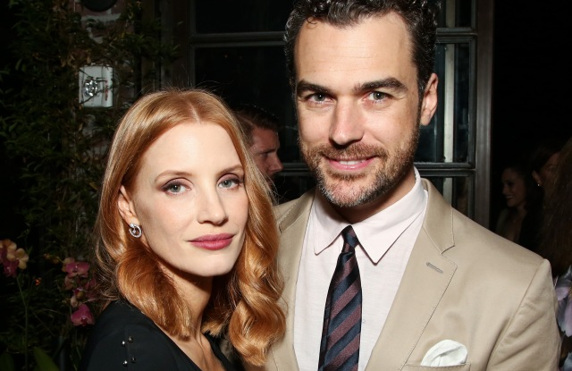 HFPA and InStyle Miss Golden Globe 2017 party Jessica Chastain and Gian Luca Passi de Preposulo