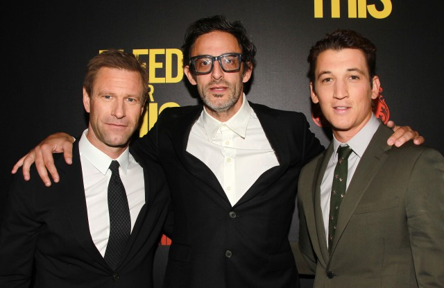 Aaron Eckhart, Ben Younger and Miles Teller.