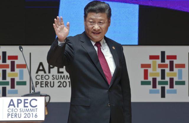 Chinese president Xi Jinping attends the APEC Summit in Lima, Peru.