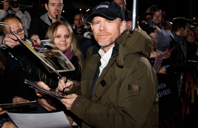 """Ron Howard wearing Peuterey at the """"Inferno"""" premiere in Berlin."""