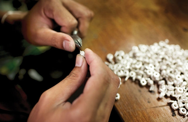 Some 2.6 billion stones were hand-set by Pandora craftsmen in the brand's crafting facilities in 2015.