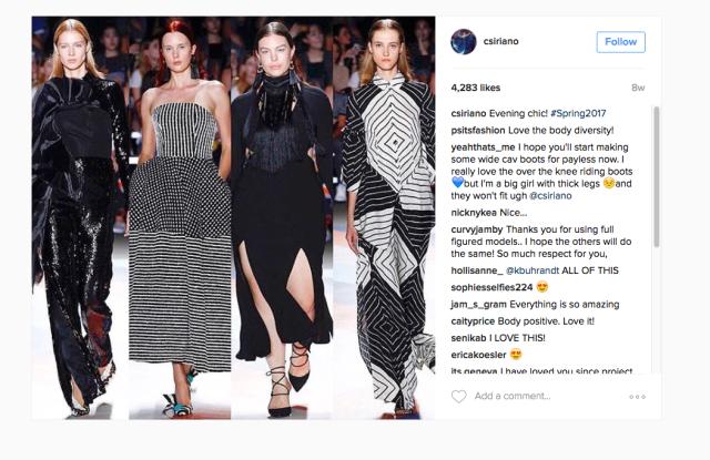 Christian Siriano on Instagram