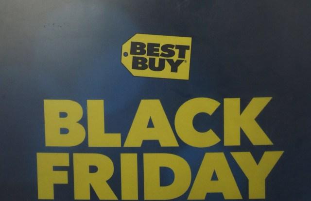 Holiday shopping on Black Friday.
