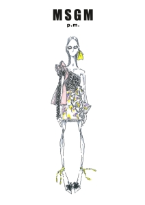 "A sketch from the ""MSGM p.m."" capsule collection"