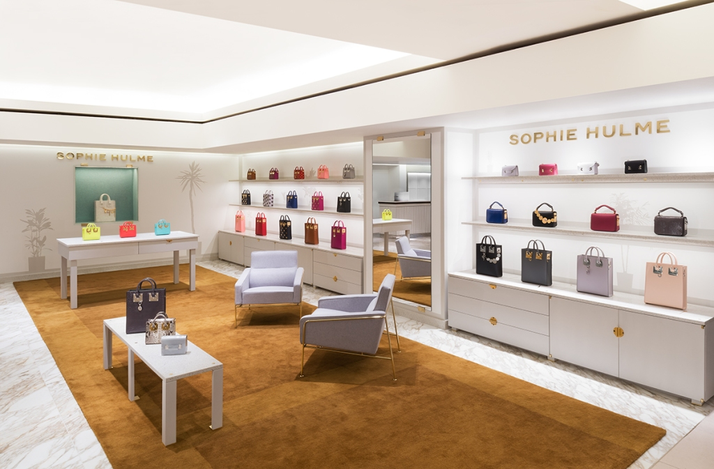 Sophie Hulme's corner shop at Harrods