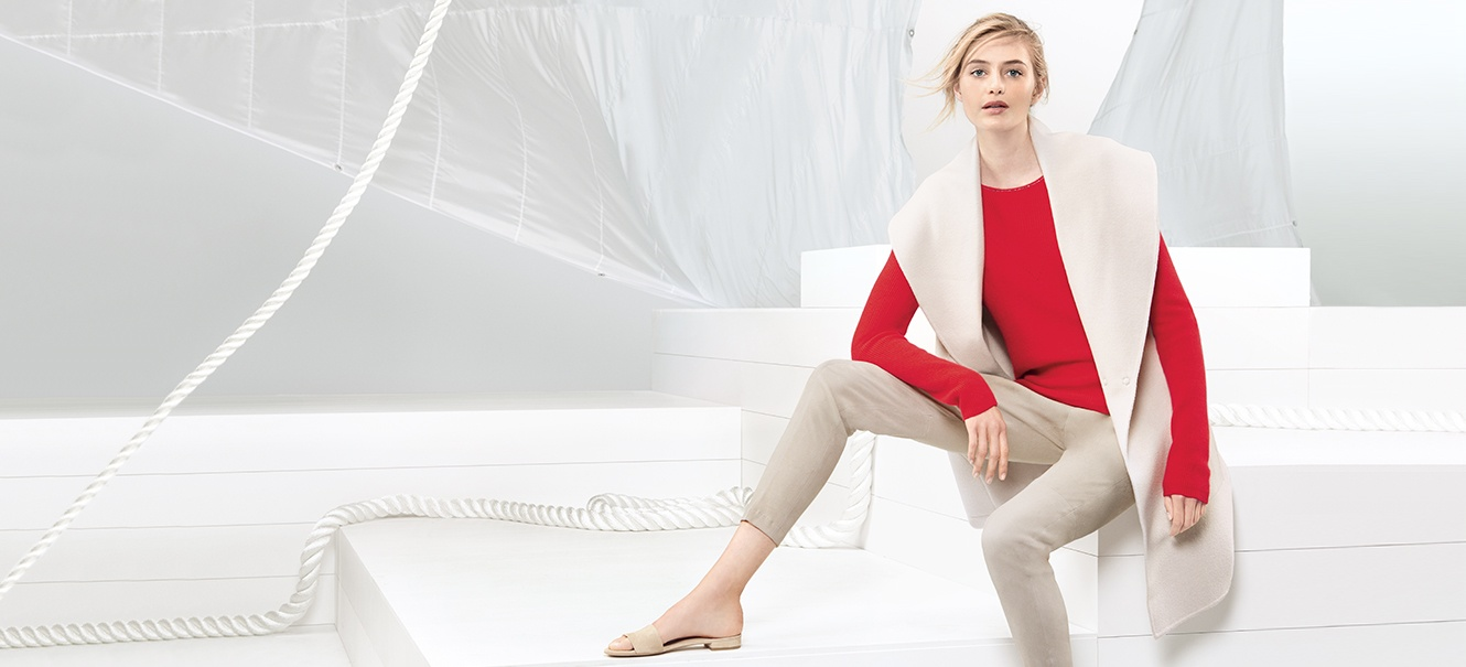 An outfit from St. John Knits newly launched Sport collection.