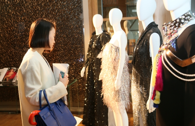 Crystal-embellished apparel was on display at the event.