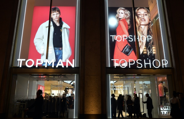 Outside the new Topman and Topshop in Berlin.