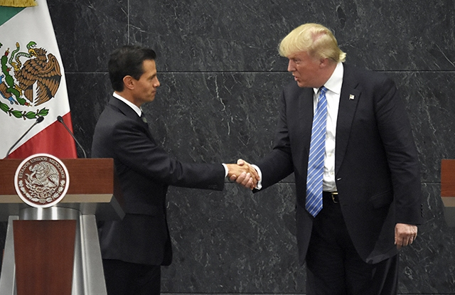 Donald Trump, who met with Mexico President Enrique Peña Nieto, last August, has vowed to renegotiate NAFTA with Mexico and Canada.