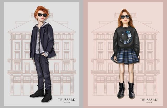 Trussardi Junior sketches.