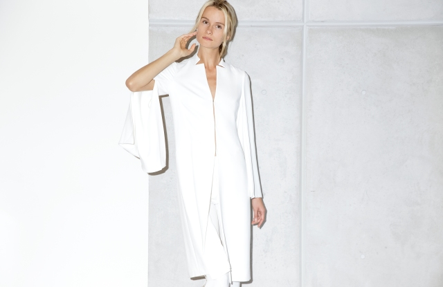 A look from Genny's new capsule collection for Bergdorf Goodman.