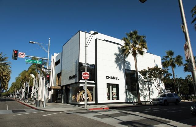 CHANEL ON RODEO DRIVE: Pictured in a 1954 newspaper clipping versus today.