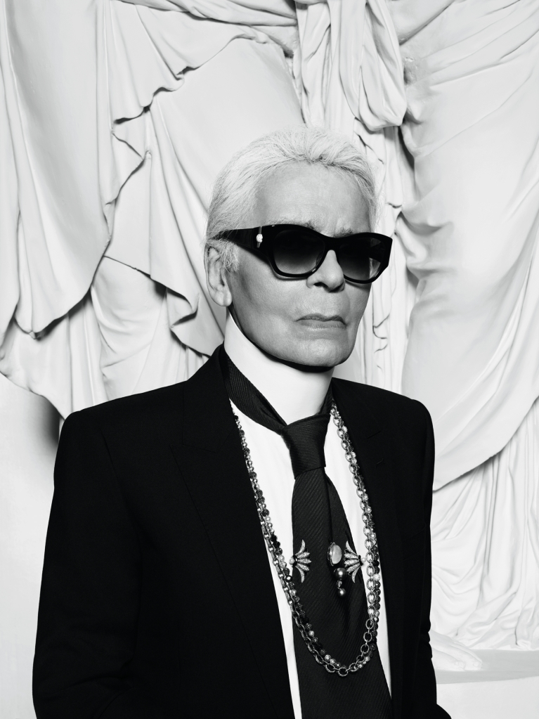 Karl Lagerfeld photographed by Hedi Slimane for the Vogue Paris December 2016/January 2017 issue.
