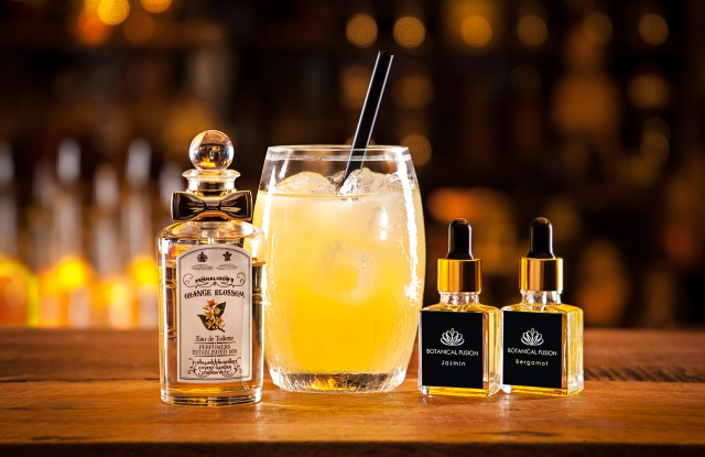 A cocktail based on Penhaligon's Orange Blossom scent, made with Botanical Fusion extracts.