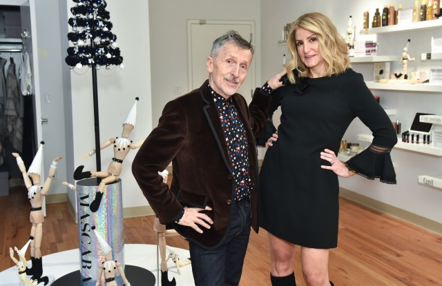 Simon Doonan and Jacquie Tractenberg at the opening of The Studio.