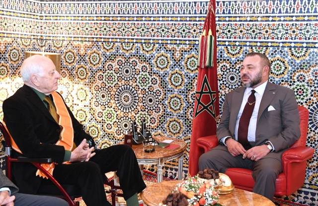 Pierre Bergé and King Mohammed VI of Morocco.