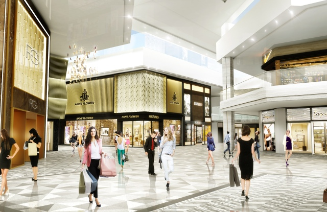 A rendering of the new setting for luxury brands at Scottsdale Fashion Square in Arizona.