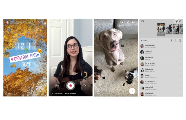 """Instagram Stories get more embellishments and a """"save"""" option."""