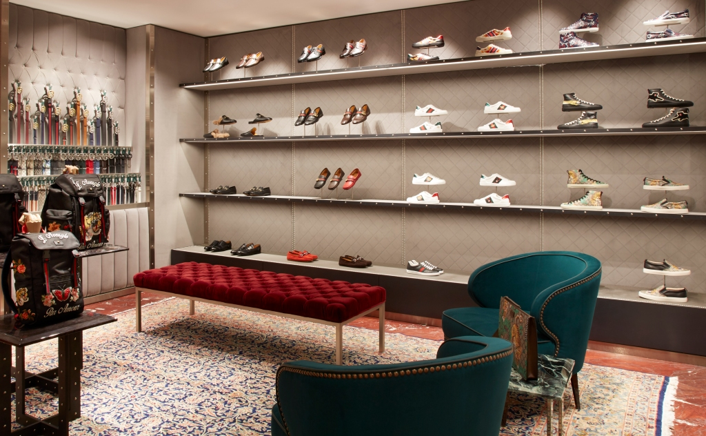 Gucci's renovated store in Milan.