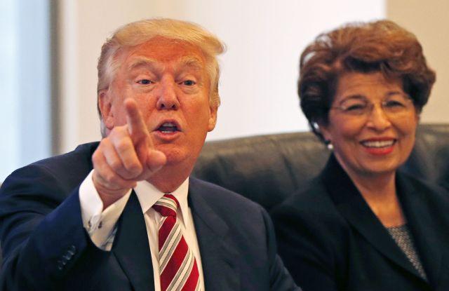 Donald Trump and Jovita Carranza in August.