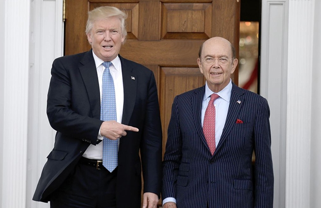 Donald Trump chose Wilbur Ross as Commerce Secretary.