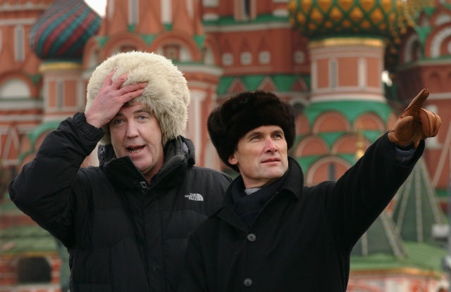 A A Gill and Jeremy Clarkson in Moscow, Russia - Dec 2006