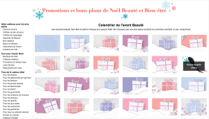 Amazon France's digital Advent calendar gives a daily beauty offer that's available for just 24 hours.