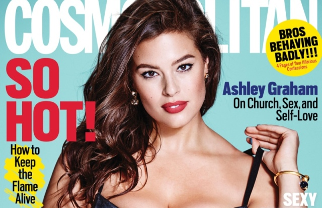 Ashley Graham on Cosmo's August cover.