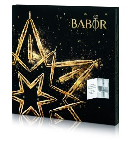 Babor's Advent calendar houses vials of various active cosmetic ingredients that are billed to be antiaging.
