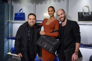 Narciso Rodriguez, Lais Ribeiro, and Bottletop co-founder Cameron Saul