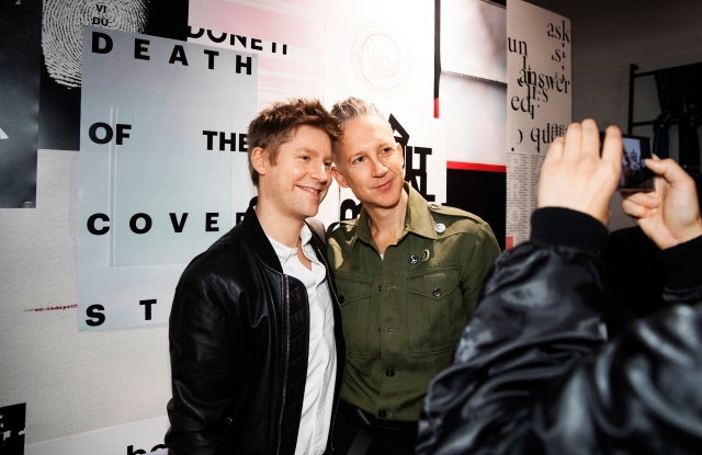 Christopher Bailey and Jefferson Hack at an event in Tokyo